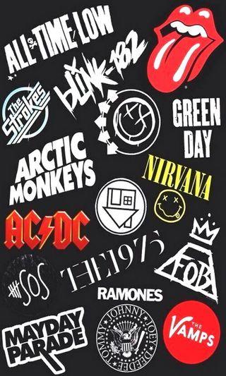Обои на телефон обезьяны, нирвана, логотипы, зеленые, день, группы, vamps, sos, green day, arctic monkeys, acdc