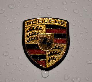 Обои на телефон эмблемы, порше, машины, дождь, вода, авто, porsche