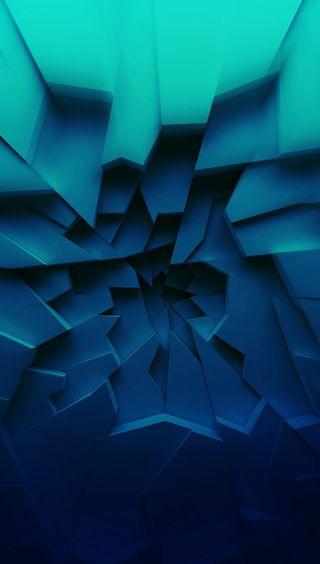 Обои на телефон графика, синие, абстрактные