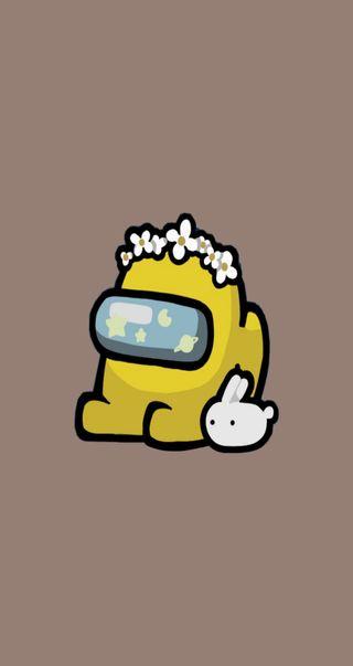 Обои на телефон мини, малыш, желтые, амонгас, амонг, among us yellow, among us mini crewmate, among us crewmate, among us baby, among us amarillo