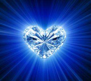 Обои на телефон духовные, синие, сердце, другие, spiritual heart