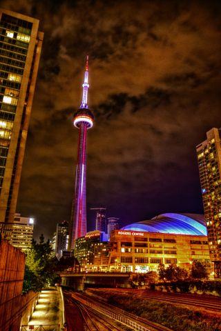 Обои на телефон торонто, топ, прекрасные, пик, ночь, города, город, башня, torontolife, top pic, the dome, rogers center, rogers, hdr, downtown, dome, cn tower