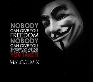 Обои на телефон malcolm, маска, текст, анонимус, свобода