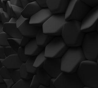Обои на телефон геометрические, черные, формы, абстрактные, polygons, geometric shape