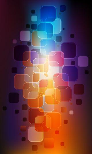 Обои на телефон glossy, whatsapp, whatsapp squares, синие, розовые, фиолетовые, цветные, фон, квадраты, узоры