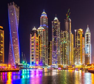 Обои на телефон юнайтед, оаэ, дубай, здания, горизонт, башня, арабские, united arab emirates, skyline, marina