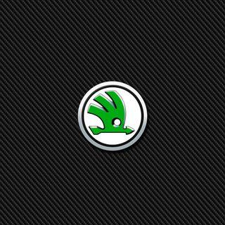 Обои на телефон значок, эмблемы, логотипы, карбон, skoda carbon, skoda