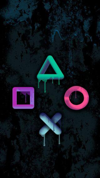 Обои на телефон рисунки, цветные, пс4, красочные, геймер, ps4