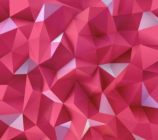 Обои на телефон официальные, треугольники, розовые, абстрактные, lg, g4
