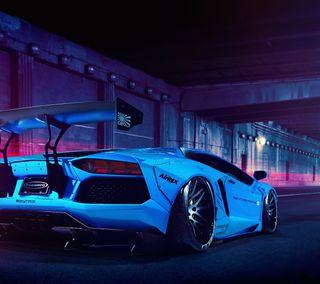 Обои на телефон авентадор, синие, машины, авто, aventador