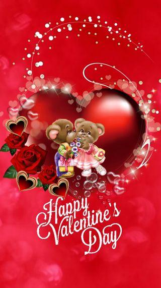 Обои на телефон счастливые, сердце, любовь, день, валентинки, love, 720x1280px