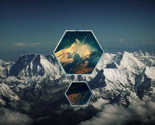 Обои на телефон геометрия, горы, абстрактные, abstract mountains