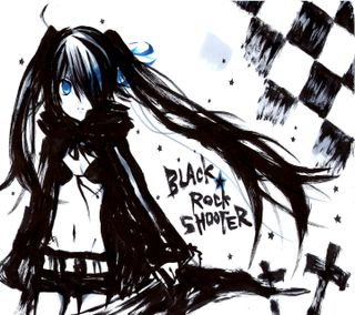 Обои на телефон анимационные, черные, стрелок, синие, рок, мультфильмы, игра, девушки, глаза, blue eye, black rock shooter