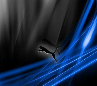 Обои на телефон пума, синие, самсунг, прыгать, логотипы, samsung, puma, blue jump