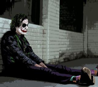 Обои на телефон рыцарь, темные, джокер, joker slumped