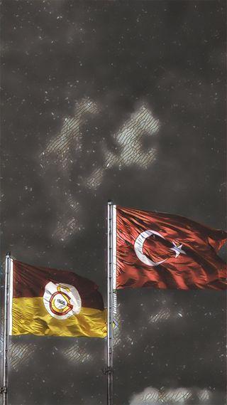 Обои на телефон флаг, турецкие, логотипы, gs turk bayrak
