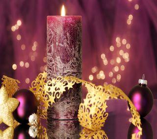Обои на телефон свеча, рождество