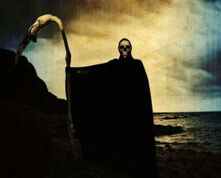 Обои на телефон жнец, череп, ужасы, темные, смерть, мрачные, жуткие, ангел