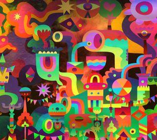 Обои на телефон цветные, самсунг, коллаж, галактика, арт, абстрактные, samsung, note 3 abstract, note, galaxy, art