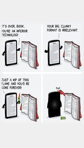 Обои на телефон технологии, против, книга, hryt, gtyj, book vs technology