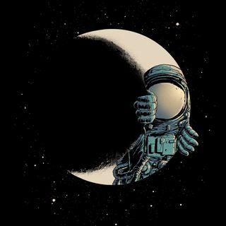 Обои на телефон космонавт, черные, космос