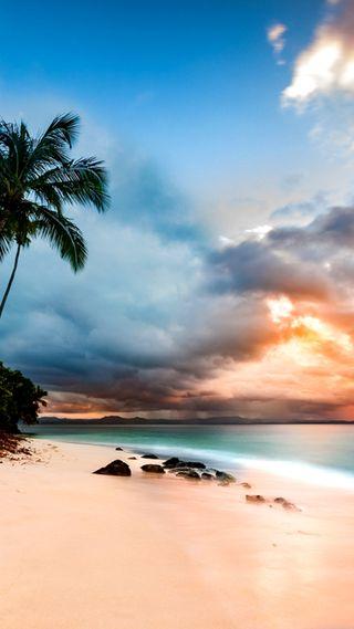 Обои на телефон остров, тропические, рай, пляж, море