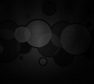 Обои на телефон пузыри, черные, темные, сетка, круги