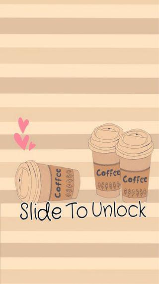 Обои на телефон разблокировать, кофе, милые, slide to unlock, slide