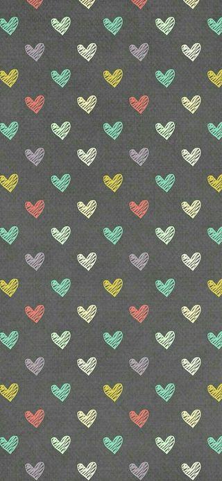 Обои на телефон девчачие, шаблон, серые, сердце, милые