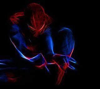 Обои на телефон паук, фильмы, свет, игра, дизайн, spider light
