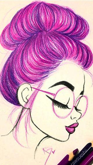 Обои на телефон розовые, девушки, волосы, pink hair