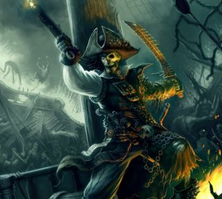 Обои на телефон пираты, скелет, карибсий, caribbean pirates