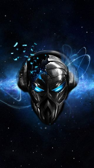 Обои на телефон наушники, энергетики, череп, музыка, космос, будущее, deejay