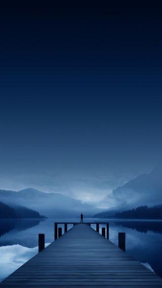 Обои на телефон рай, пристань, природа, мост