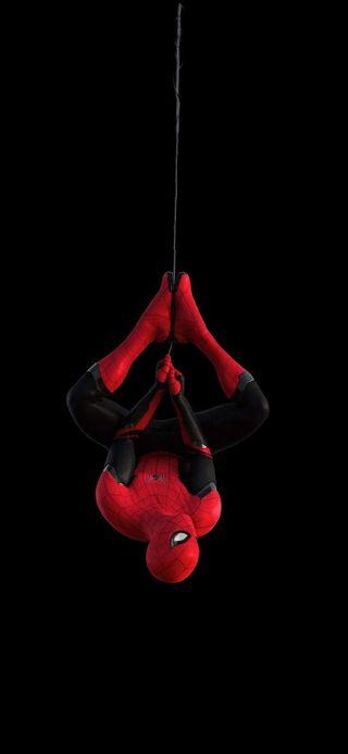 Обои на телефон человек паук, черные, дом, амолед, spiderman amoled