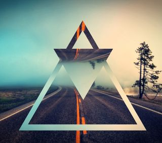 Обои на телефон эпичные, треугольник, синие, приятные, новый, лучшие, дорога, андроид, android
