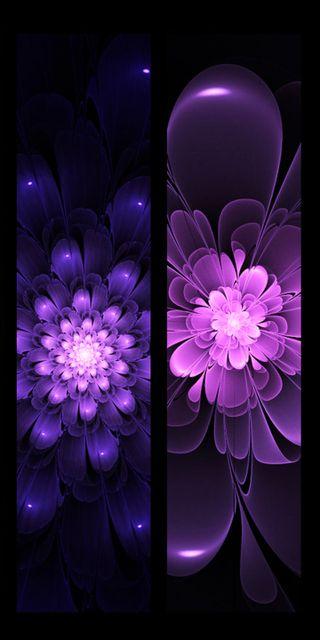 Обои на телефон фрактал, цветы, фиолетовые, абстрактные