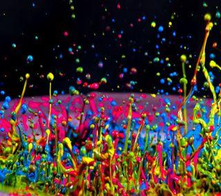 Обои на телефон брызги, цветные, color splash, 2160x1920