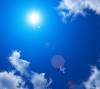 Обои на телефон лето, синие, небо