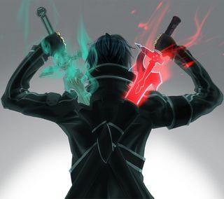 Обои на телефон сао, онлайн, меч, кирито, арт, kirigaya, kazuto, art