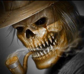 Обои на телефон дым, череп, цветные, темные, страшные, скелет, жуткие, готические, арт, smoker, art