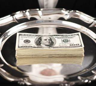 Обои на телефон шик, счета, доллары, богатые, деньги, tax, money on a tray
