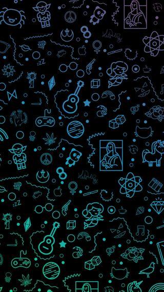 Обои на телефон панк, шаблон, черные, череп, хэллоуин, темные, рок, розовые, простые, неоновые, мультфильмы, ведьма, witch pattern