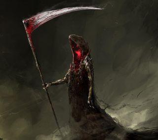 Обои на телефон жнец, смерть, души, scythe, reaper of souls