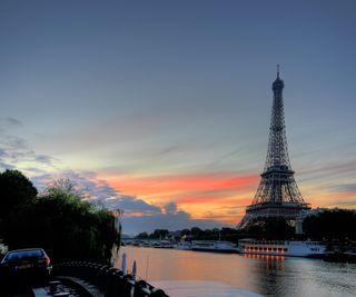 Обои на телефон эйфелева башня, франция, пейзаж, париж, город, lakeside