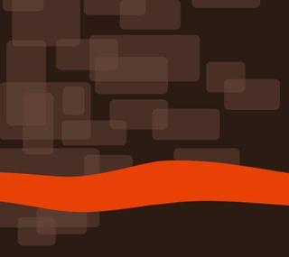 Обои на телефон оранжевые, матовые, коробка, коричневые, арт, darkdroid, brown box, art