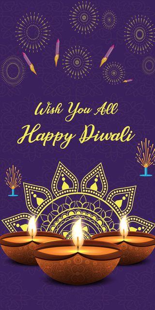 Обои на телефон фестиваль, фейерверк, счастливые, поговорка, индийские, дивали, wishing, happy