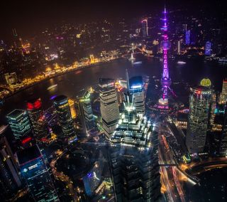 Обои на телефон городские, ночь, небоскребы, конг, китай, город, башня, азия, night metropolis, hong kong