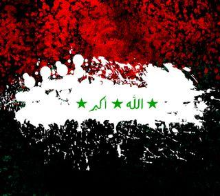 Обои на телефон wallpaper hd, абстрактные, флаги, ирак