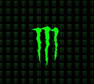 Обои на телефон энергетики, логотипы, зеленые, monster